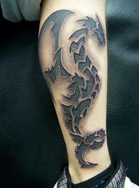 Tatouages De Dragons Tribaux (3)
