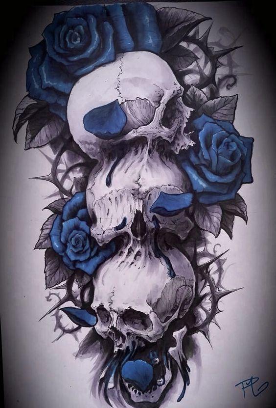 Tatouage Du Crâne (1)