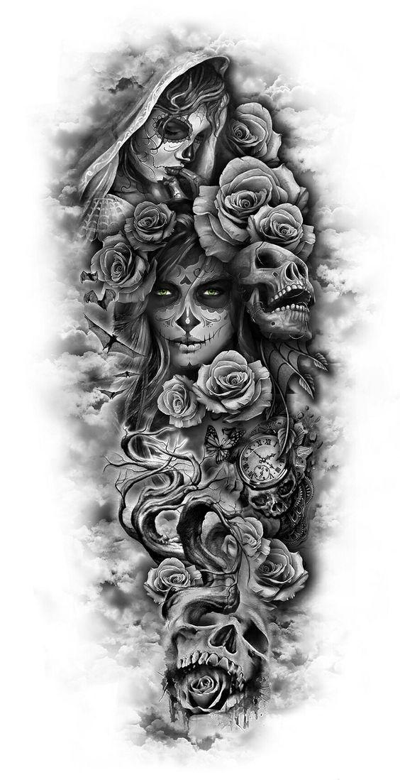 Tatouage Du Crâne (2)
