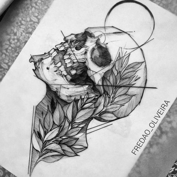 Tatouage Du Crâne (4)