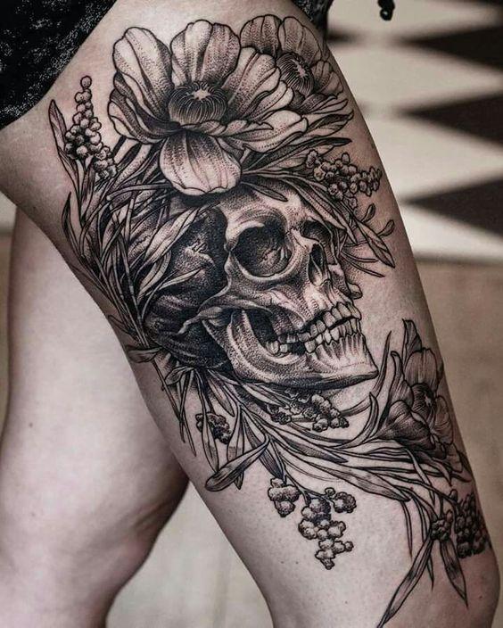Tatouage Du Crâne Des Femmes (10)
