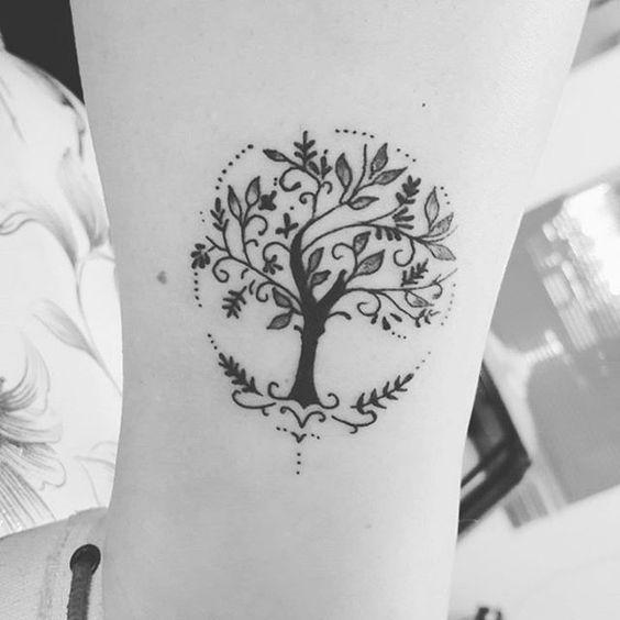 Tatouage Arbre De Vie Minimaliste (1)