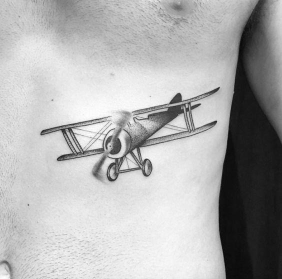 Tatouage Avion Homme (7)