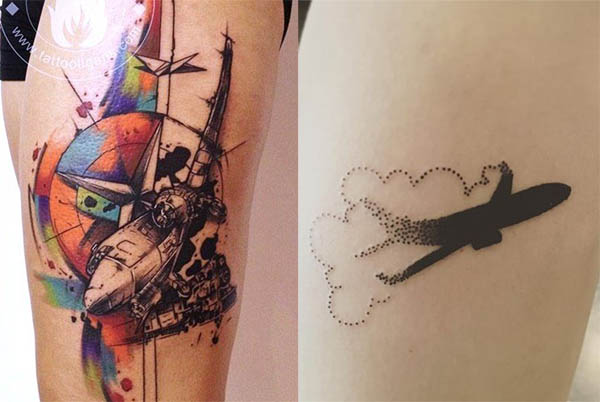 Tatouage Avion