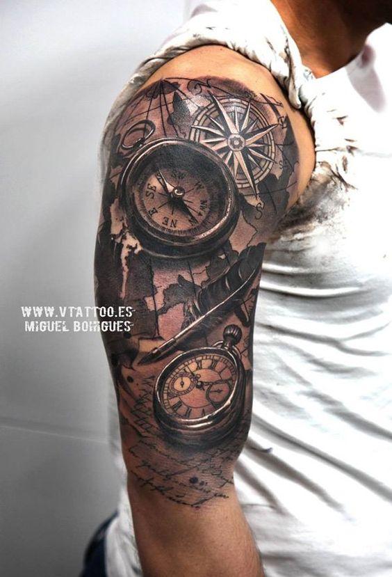 Tatouage Boussole Homme (12)