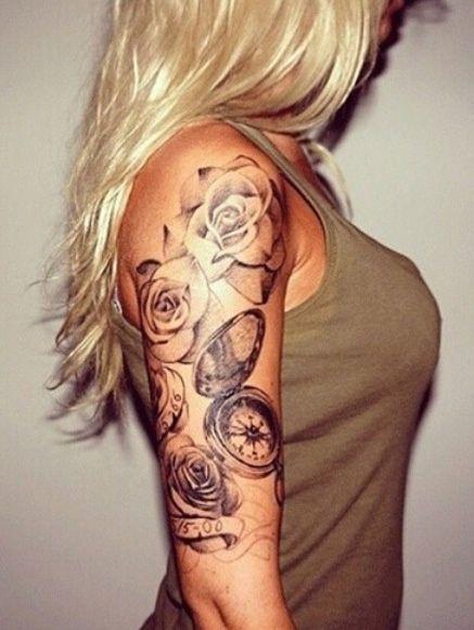 Tatouage Boussole Rose (4)