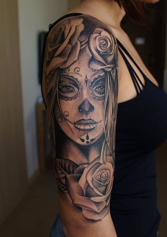 Tatouage Catrina Femme (7)
