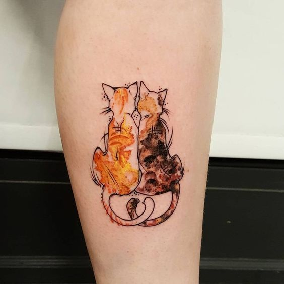Tatouage Chat Coulour (1)