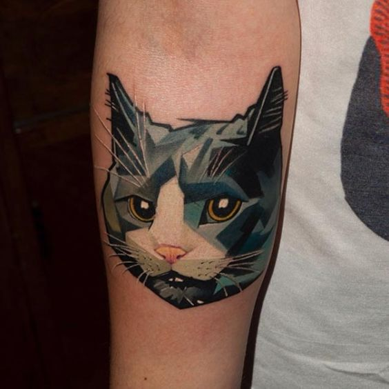 Tatouage Chat Coulour (5)