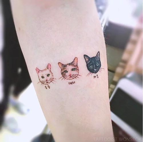 Tatouage Chat Minimaliste (4)