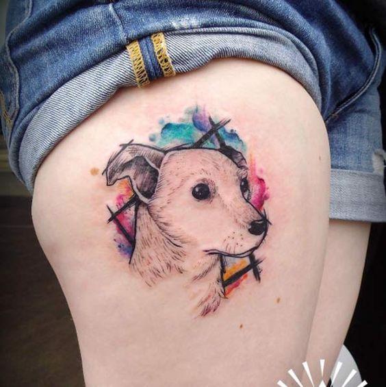 Tatouage Chien Femme (17)