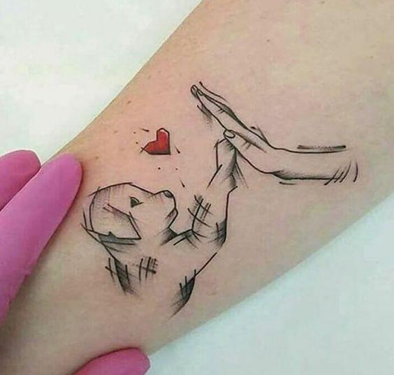 Tatouage Chien Femme (8)