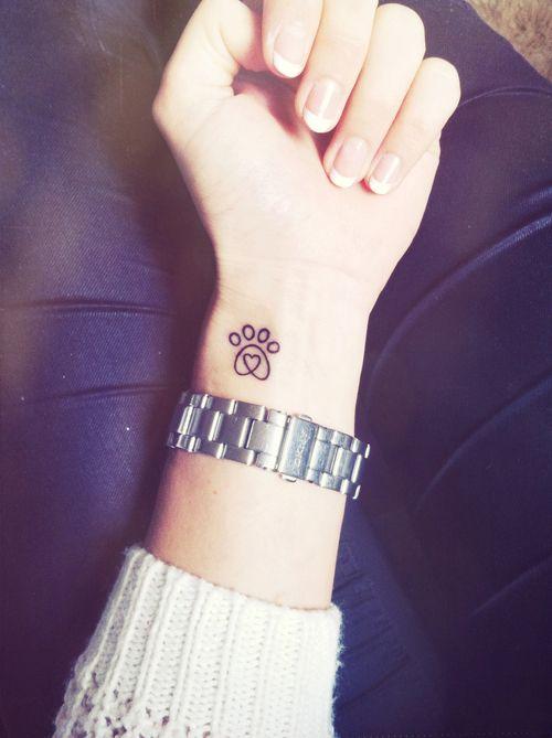 Tatouage Chien Minimaliste (2)
