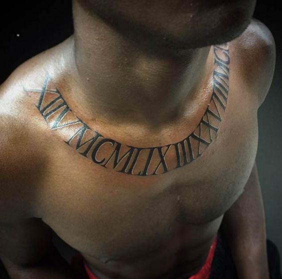 Tatouage Chiffres Romains Homme (1)