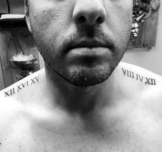 Tatouage Chiffres Romains Homme (18)