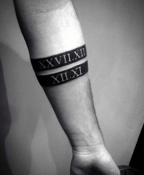 Tatouage Chiffres Romains Homme (2)
