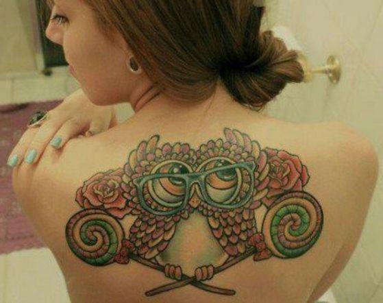 Tatouage Chouette Femme (1)