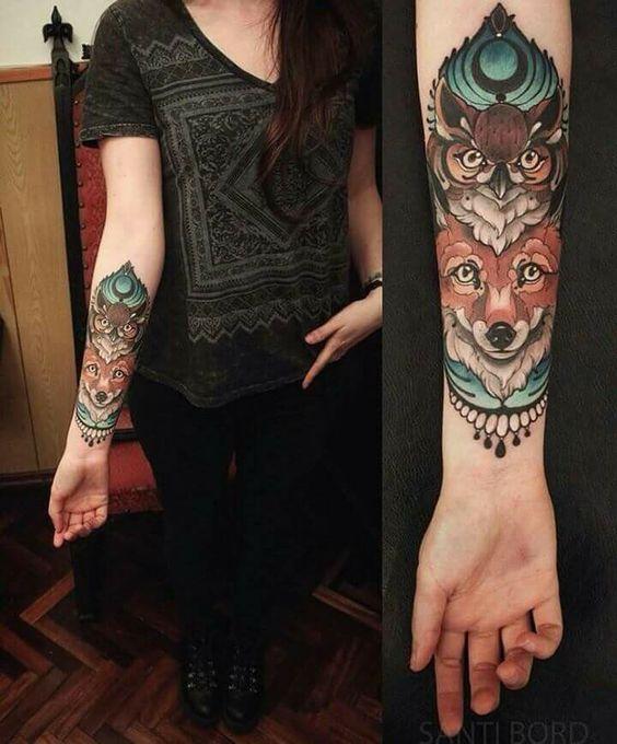 Tatouage Chouette Femme (14)