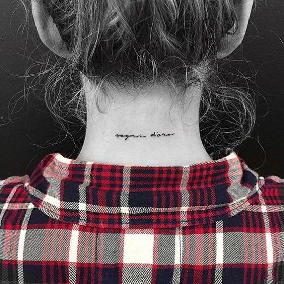 Tatouage Cou Discret (5)