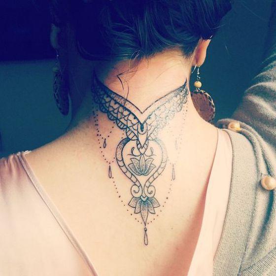 Tatouage Cou Femme (1)