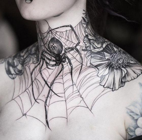 Tatouage Cou Femme (14)