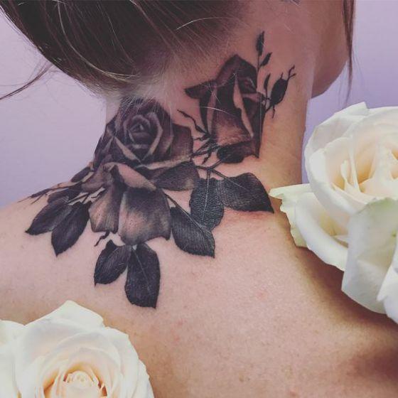 Tatouage Cou Femme (3)