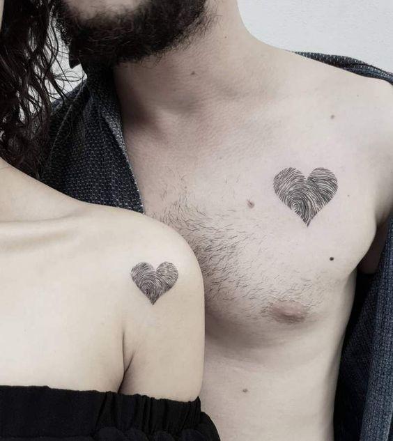Tatouage Couple Coeur (3)