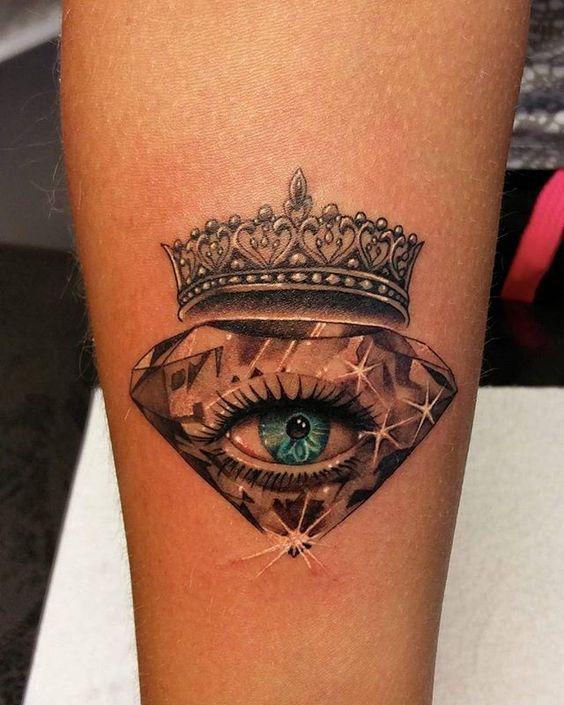 Tatouage Diamant Couronne (1)