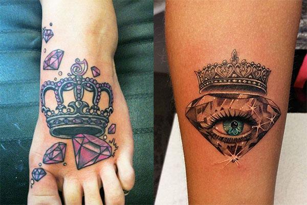 Tatouage Diamant Couronne (6)