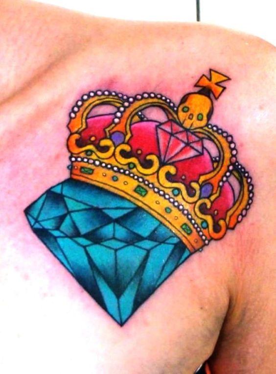 Tatouage Diamant Couronne (7)