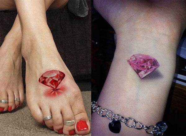 Tatouage Diamant Réaliste (5)