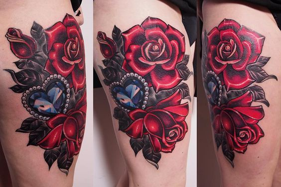 Tatouage Diamant Rose (2)