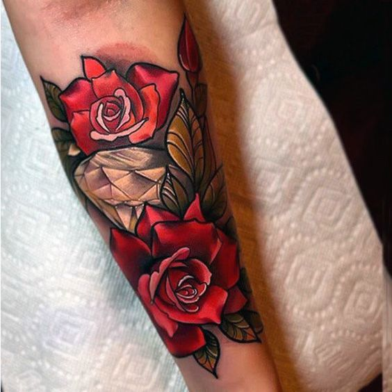 Tatouage Diamant Rose (4)