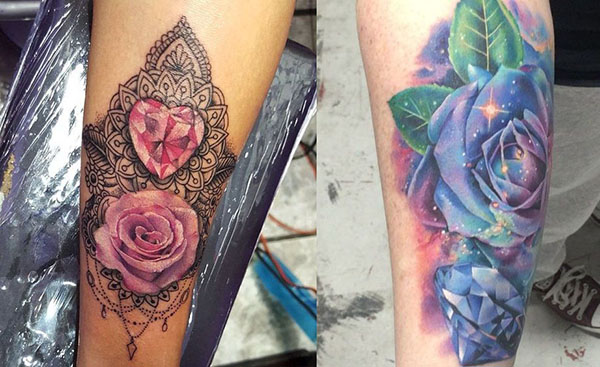 Tatouage Diamant Rose (6)