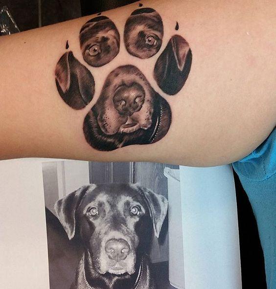 Tatouage Empreinte Chien (1)