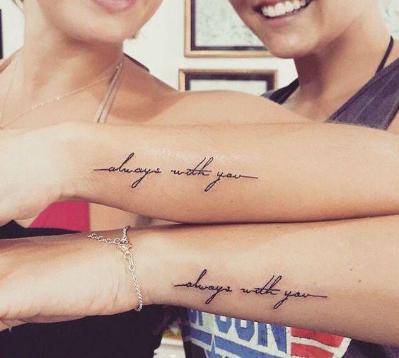 Tatouage Entre Amis Phrases (2)