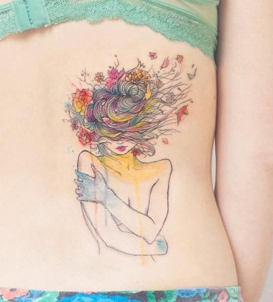 Tatouage Femme Cote (2)