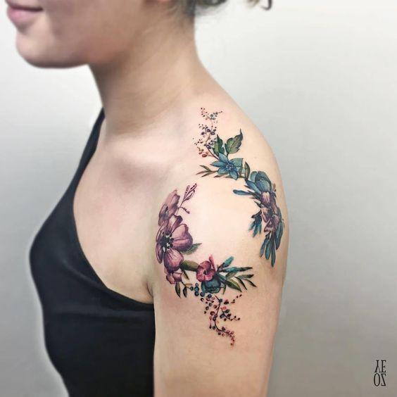 Tatouage Femme Epaule (1)