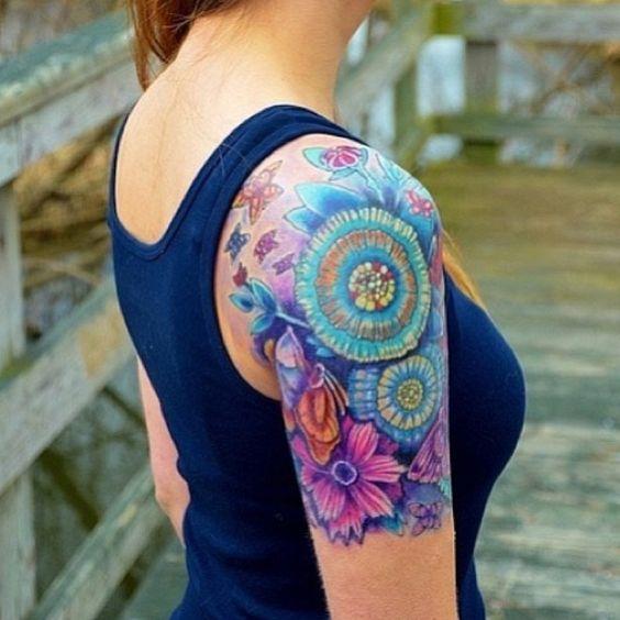 Tatouage Femme Epaule (9)