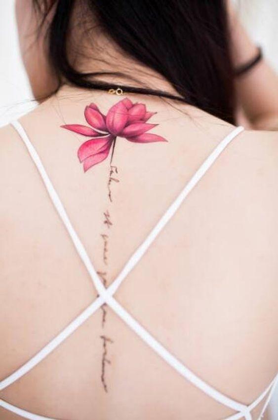 Tatouage Fleur De Lotus Minimaliste (1)