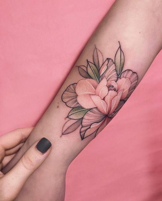 Tatouage Fleurs Couleurs (12)