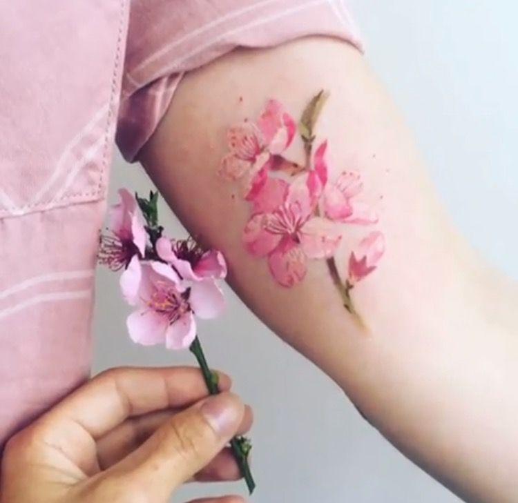 Tatouage Fleurs Couleurs (8)