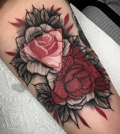 Tatouage Fleurs Couleurs (9)