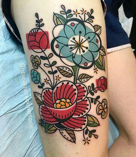 Tatouage Fleurs Jambes (12)