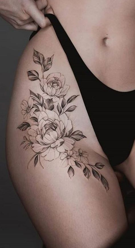Tatouage Fleurs Jambes (3)