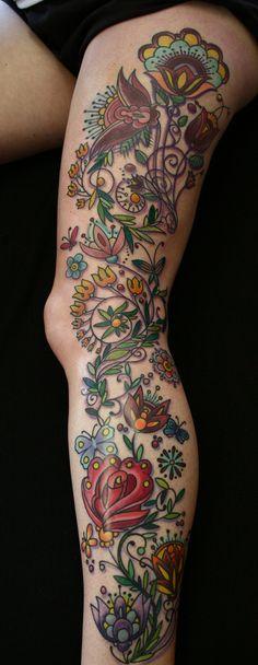 Tatouage Fleurs Jambes (4)