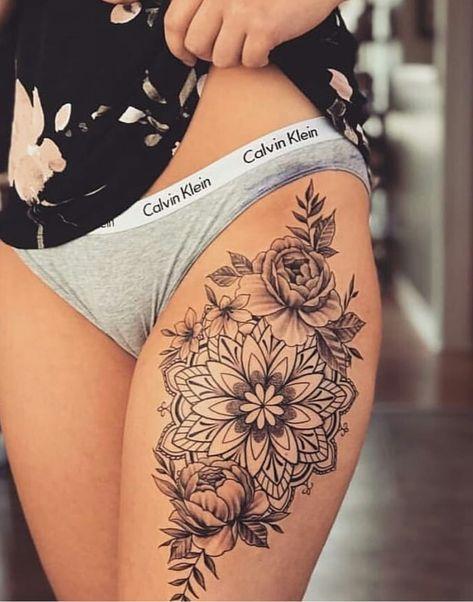 Tatouage Fleurs Jambes (6)