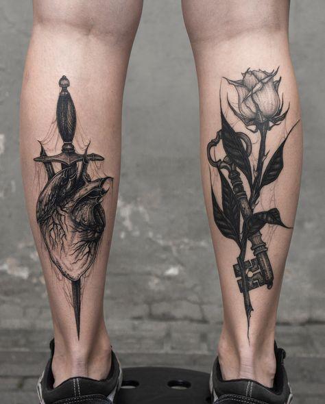 Tatouage Fleurs Jambes (7)