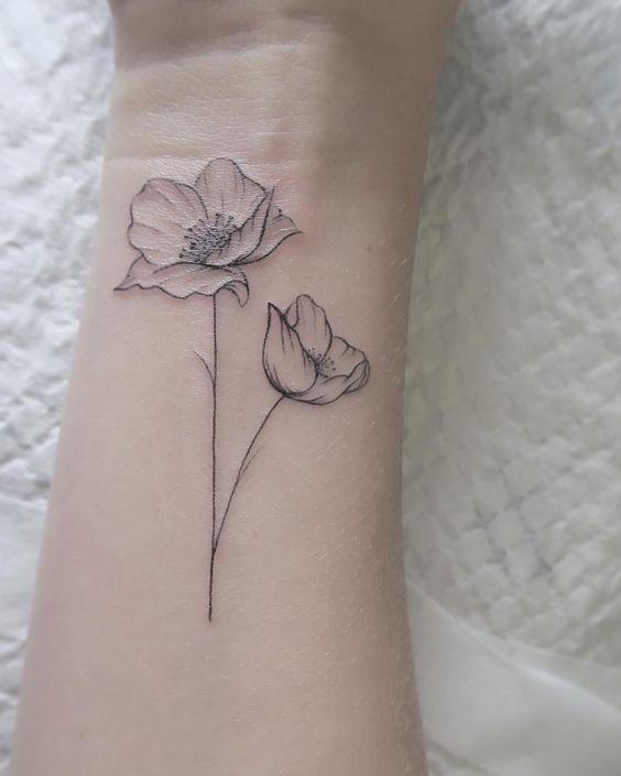 Tatouage Fleurs Petit (1)
