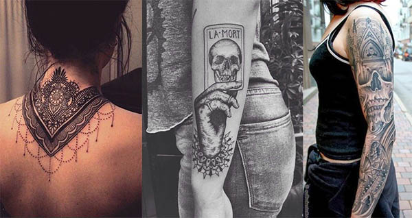 Tatouage Gothiques Femme (1)